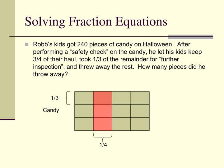 Solving Fraction Equations
