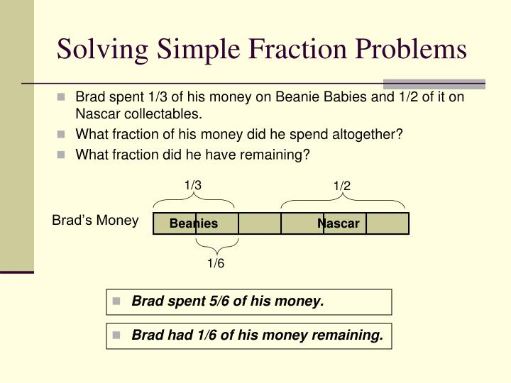 Solving Simple Fraction Problems