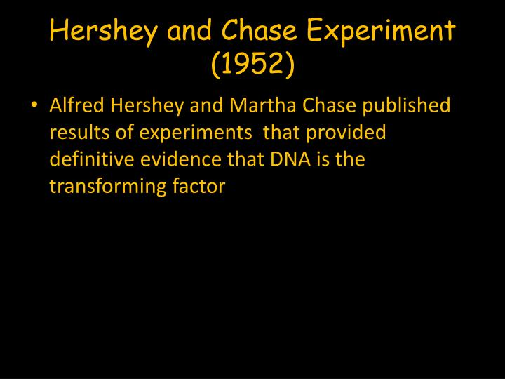 Hershey and Chase Experiment (1952)