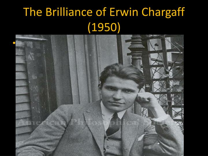 The Brilliance of Erwin Chargaff (1950)