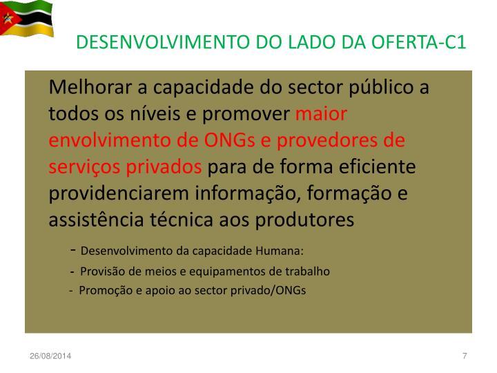 DESENVOLVIMENTO DO LADO DA OFERTA-C1
