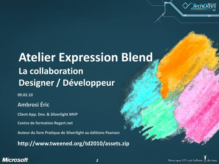 Atelier expression blend la collaboration designer d veloppeur