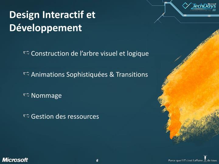Design Interactif et Développement