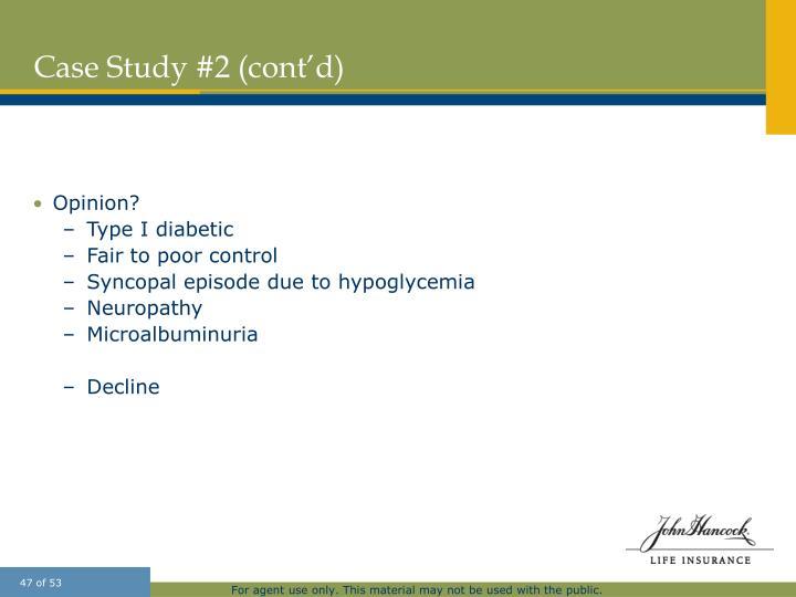 Case Study #2 (cont'd)