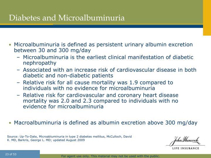 Diabetes and Microalbuminuria