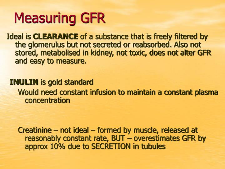 Measuring GFR