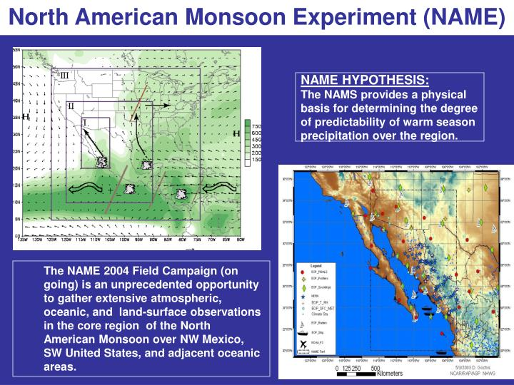 North American Monsoon Experiment (NAME)