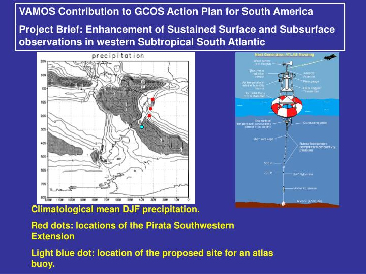 VAMOS Contribution to GCOS Action Plan for South America
