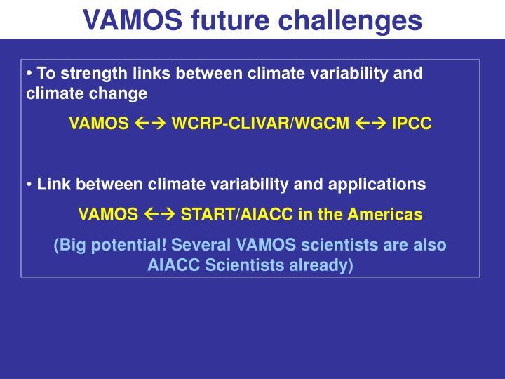 VAMOS future challenges