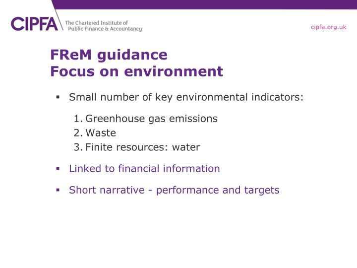 FReM guidance