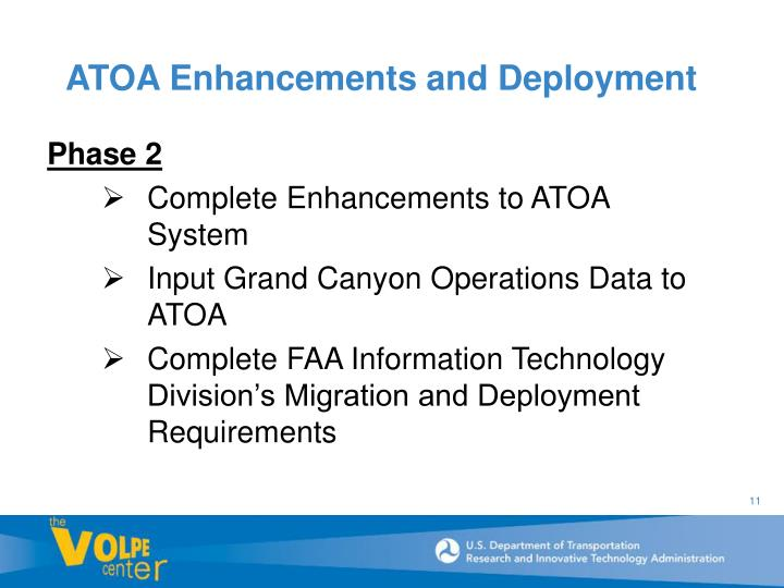 ATOA Enhancements and Deployment