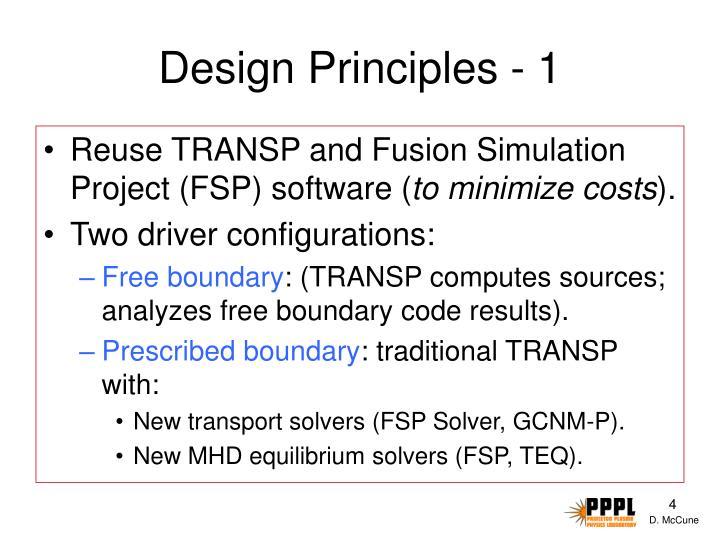 Design Principles - 1