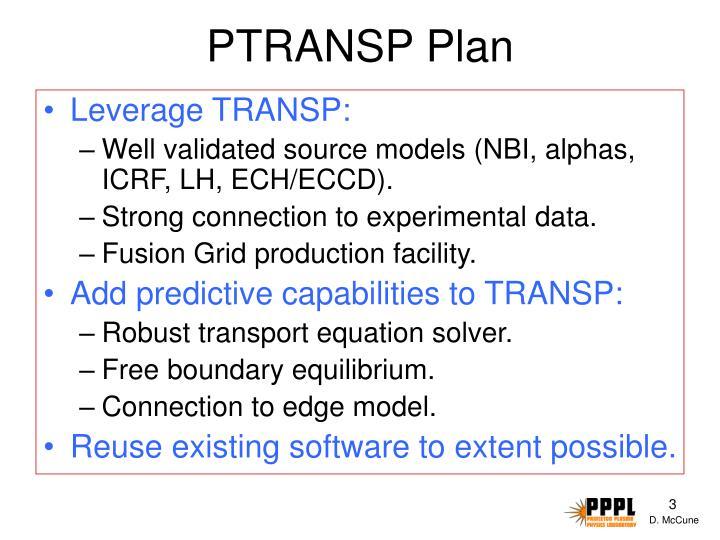 PTRANSP Plan