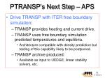 ptransp s next step aps