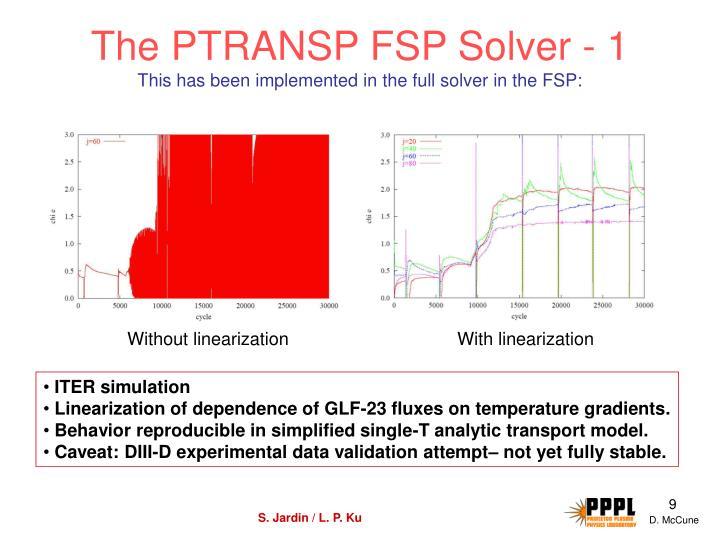 The PTRANSP FSP Solver - 1