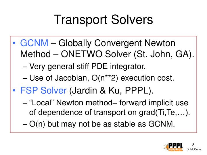 Transport Solvers