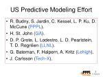 us predictive modeling effort