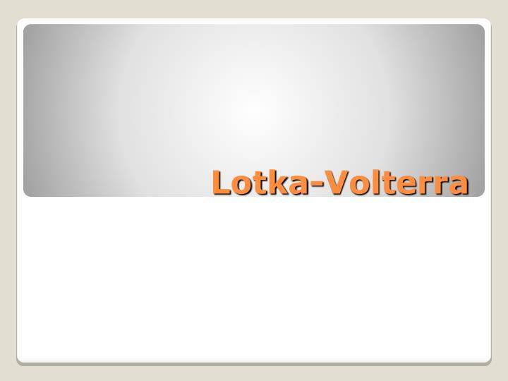 Lotka-Volterra