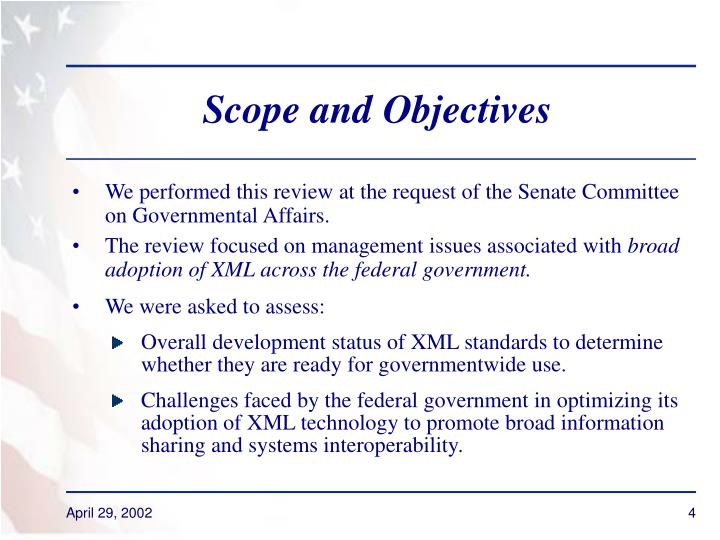 Scope and Objectives