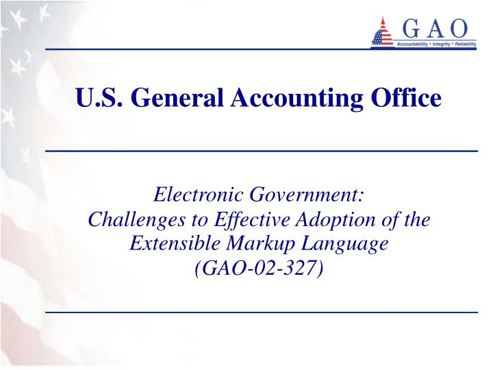 U s general accounting office