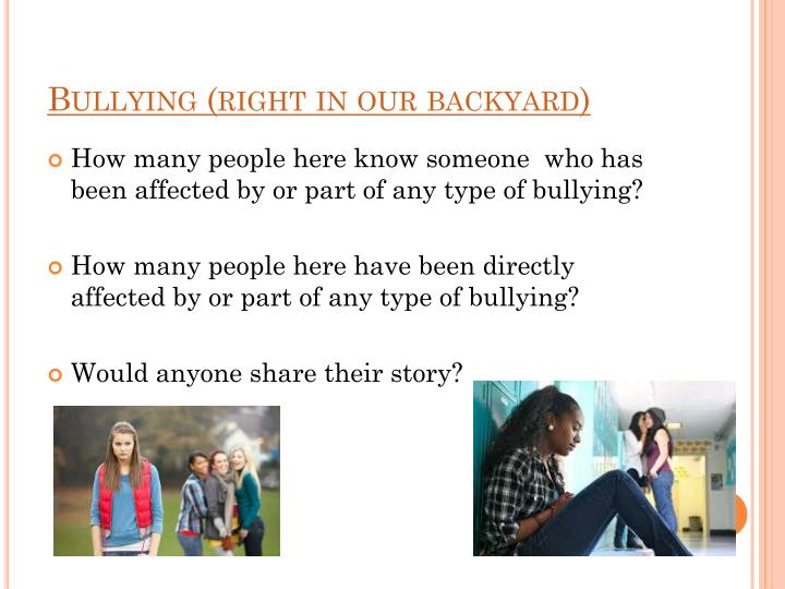 Bullying (right in our backyard)