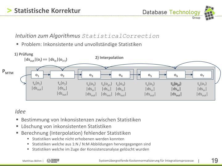Statistische Korrektur