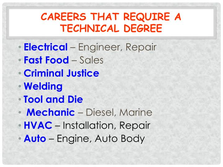 Careers that Require a Technical Degree