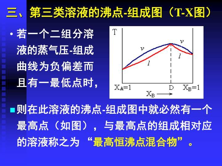 三、第三类溶液的沸点-组成图(