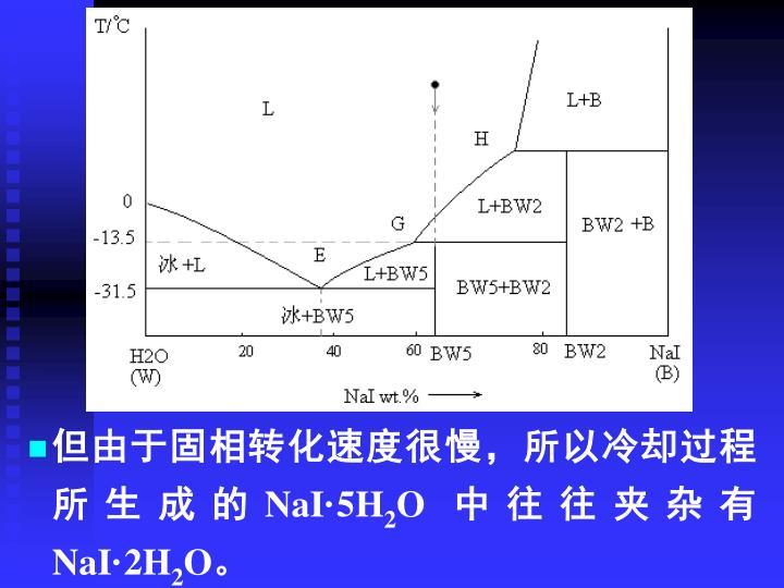但由于固相转化速度很慢,所以冷却过程所生成的