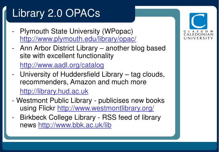 Library 2.0 OPACs