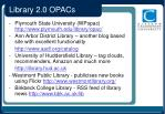 library 2 0 opacs