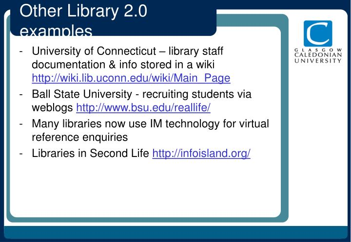 Other Library 2.0 examples