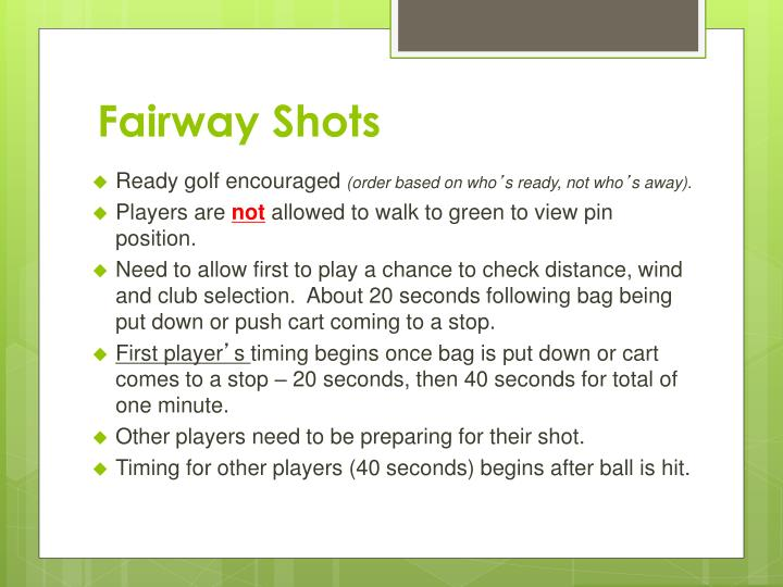 Fairway Shots