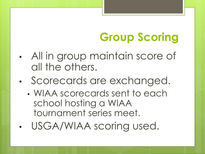 Group Scoring