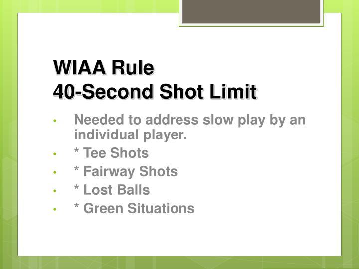 WIAA Rule