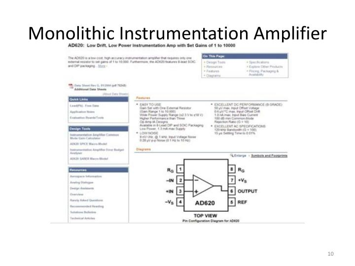 Monolithic Instrumentation Amplifier