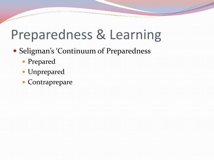 Preparedness & Learning