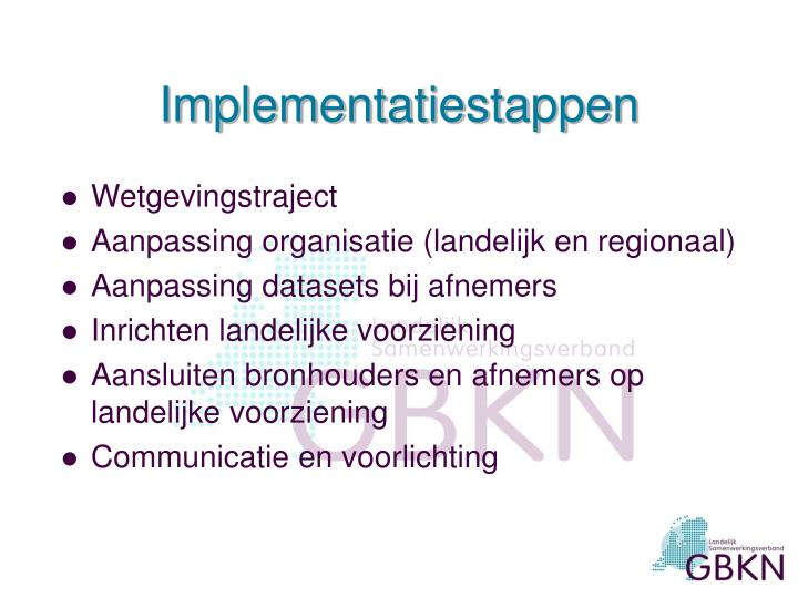 Implementatiestappen