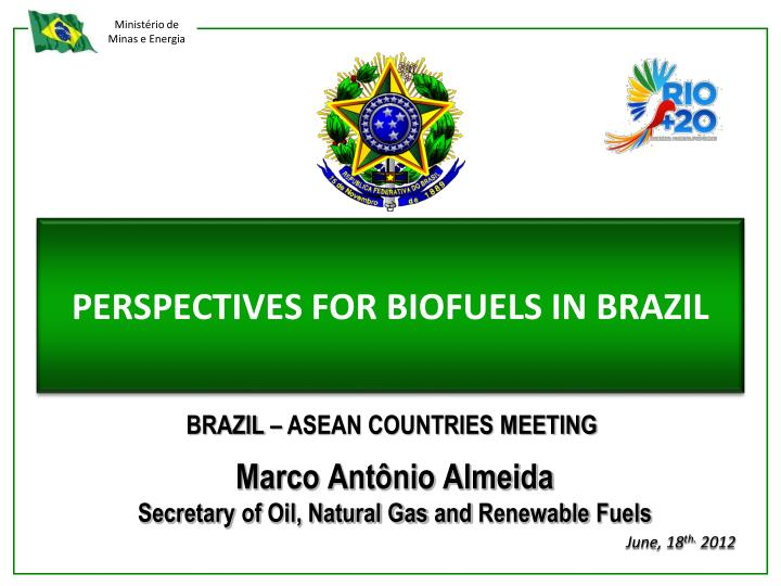 Perspectives for biofuels in brazil