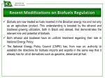 recent modifications on biofuels regulation