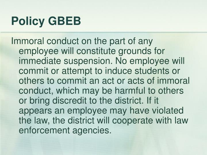 Policy GBEB
