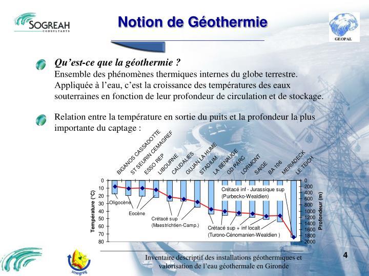 Notion de Géothermie