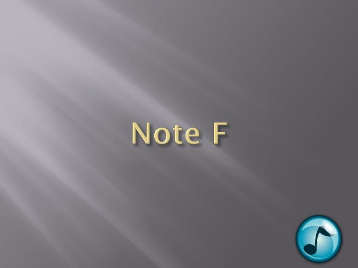 Note F