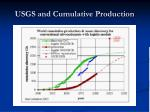 usgs and cumulative production