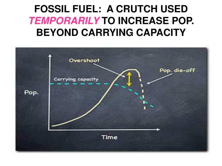 FOSSIL FUEL:  A CRUTCH USED