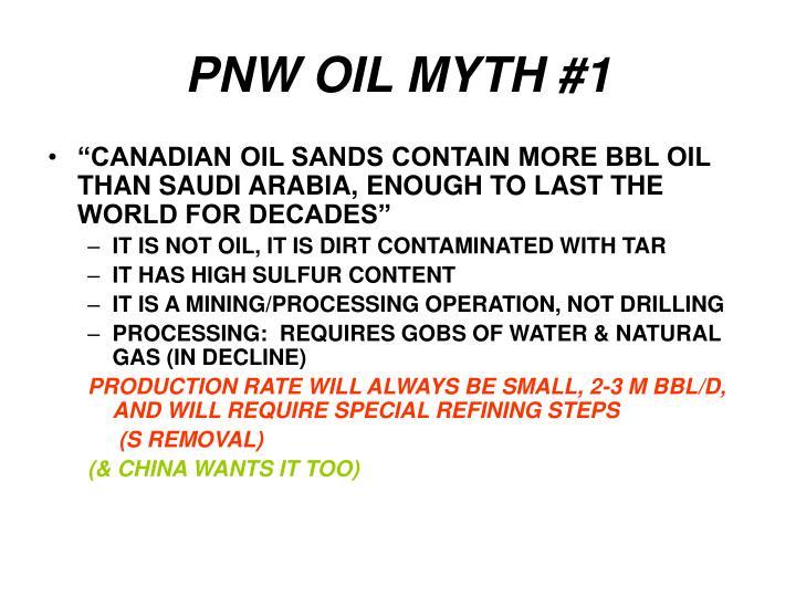 PNW OIL MYTH #1