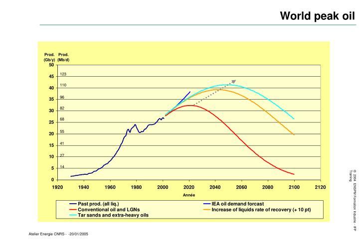 World peak oil