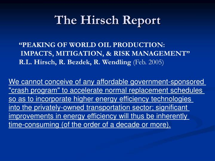 The Hirsch Report
