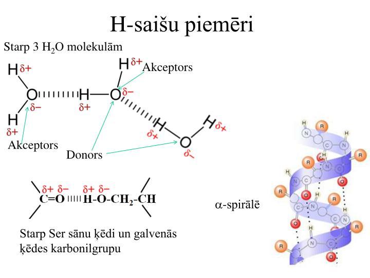 H-saišu piemēri