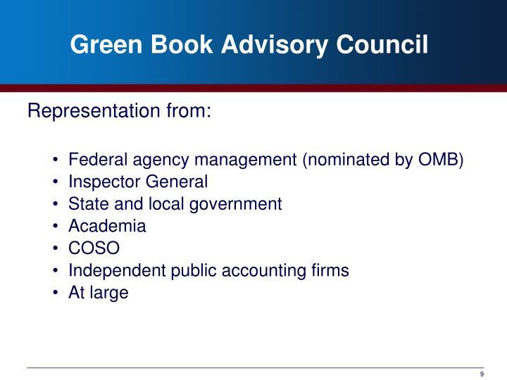 Green Book Advisory Council
